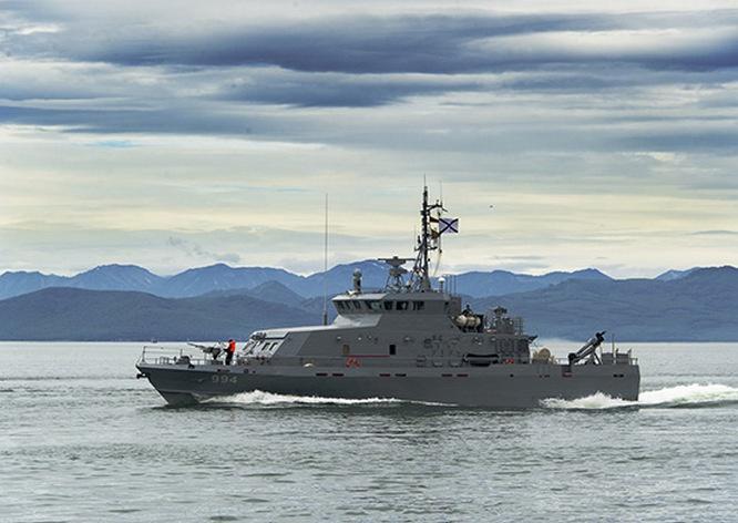 Одиночные действия в море у берегов Камчатки сдаче курсовых задач отработали экипажи противодиверсионных катеров проекта 21980 «Грачонок».