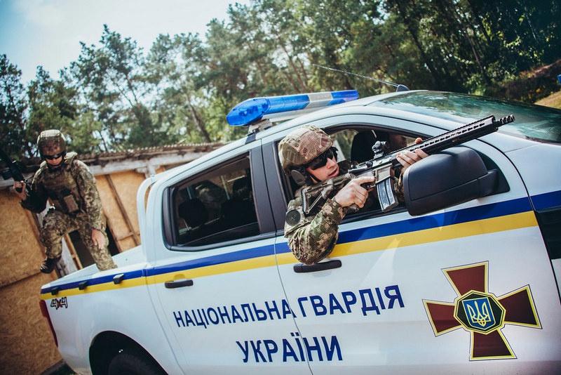 Подготовка подразделения Нацгвардии Украины в учебном центре.