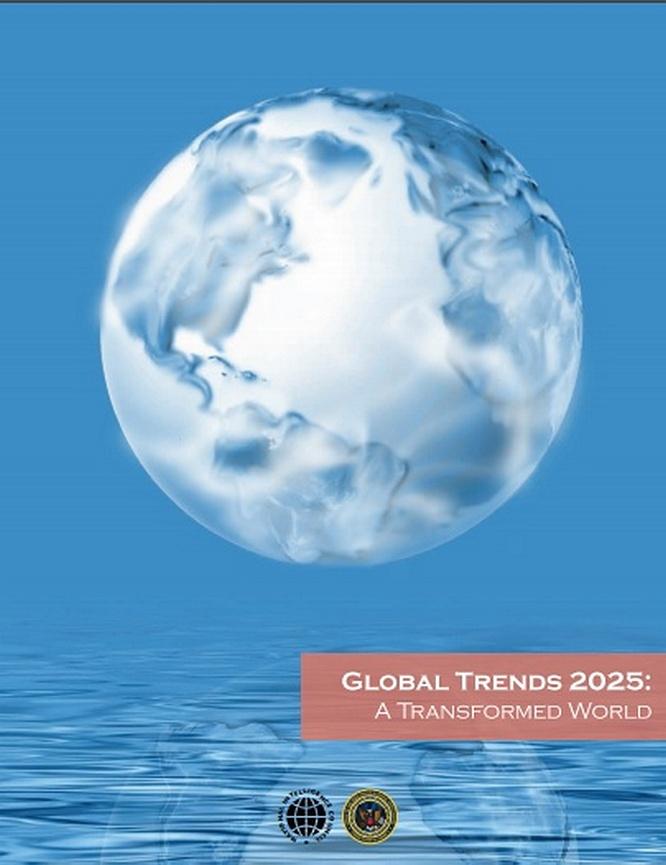Официально опубликованный в 2008 году документ строит модель мира предположительно к 2025 году.