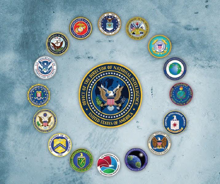 Офис директора национальной разведки координирует деятельность 17 разведывательных ведомств США, включая ЦРУ, АНБ, ФБР идругие.