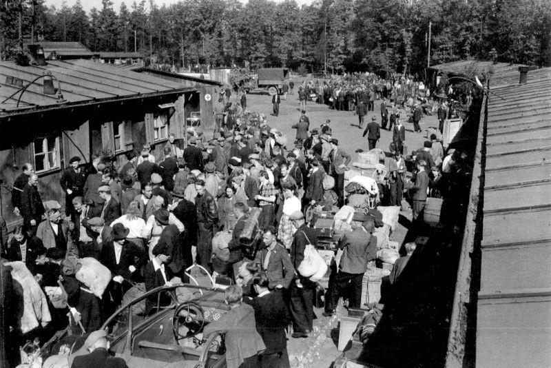Лагерь для перемещённых лиц в районе Мюнстера.