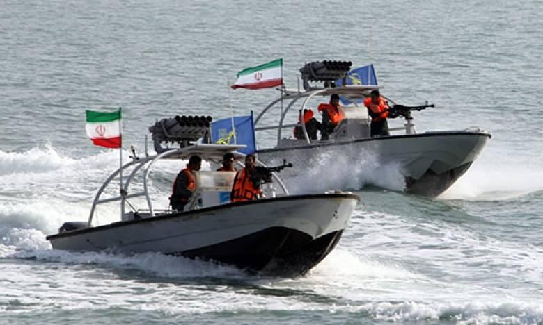 Иранские патрульные корабли Корпуса стражей исламской революции.