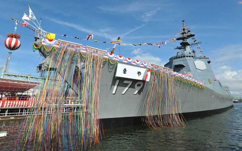 В марте ВМС Японии получили новейший эсминец УРО «Мая».