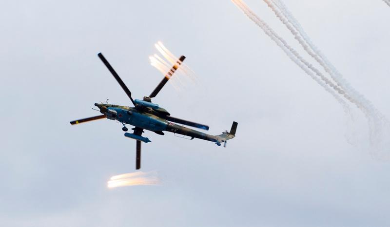 Ударный вертолёт Ка-52 «Аллигатор».