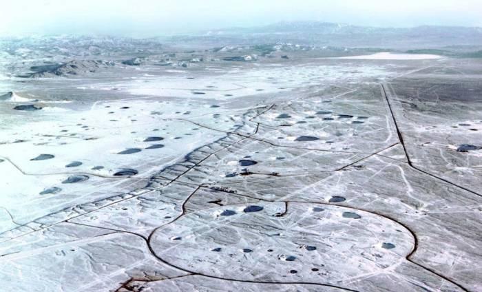 Центральный ядерный полигон на архипелаге Новая Земля.