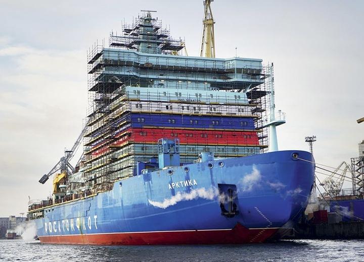 На Балтийском заводе в Санкт-Петербурге ведётся строительство трёх мощных атомоходов проекта 22220 для «Атомфлота».