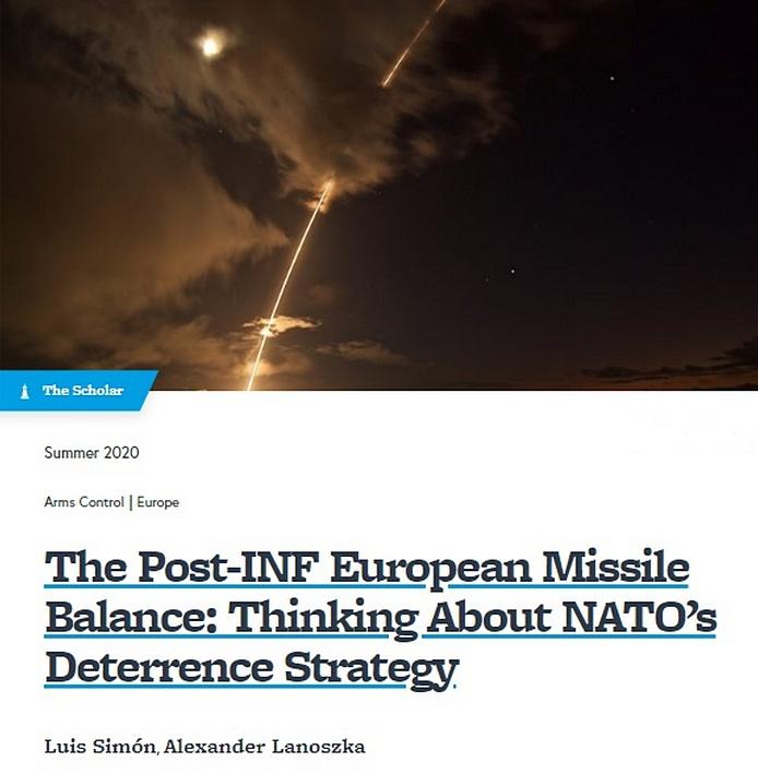 Эссе «Европейский ракетный баланс после РСМД: размышления о стратегии сдерживания НАТО».