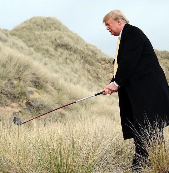 Россия в рамках Договора по открытому небу «следила» даже за «интимной» стороной жизни Дональда Трампа - в частности, за игрой в гольф.