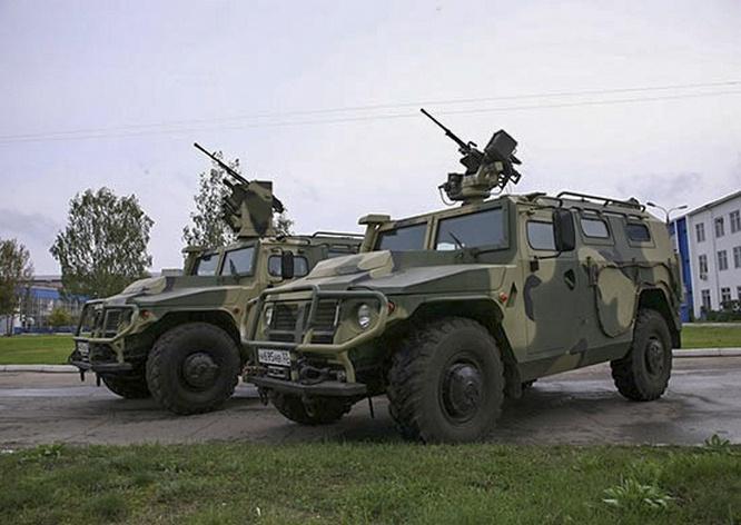 Бронеавтомобили «Тигр» оснащённые боевым модулем с дистанционным управлением «Арбалет-ДМ».