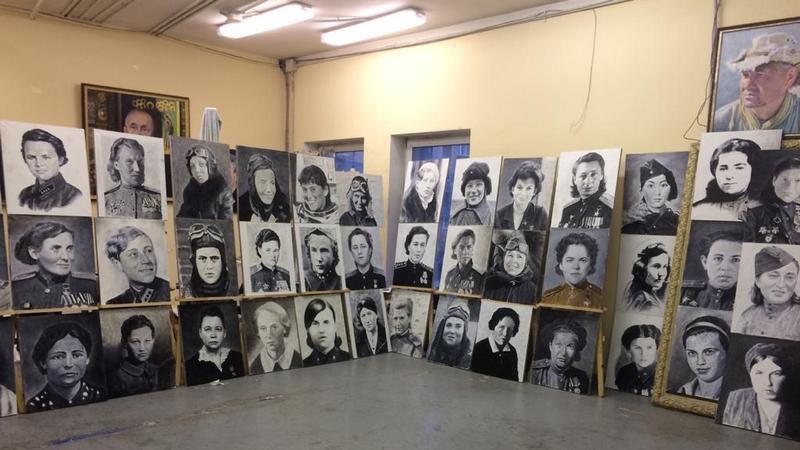 Подавляющее большинство женщин-Героев Советского Союза, запечатлённых на портретах, получили это звание за военные подвиги.