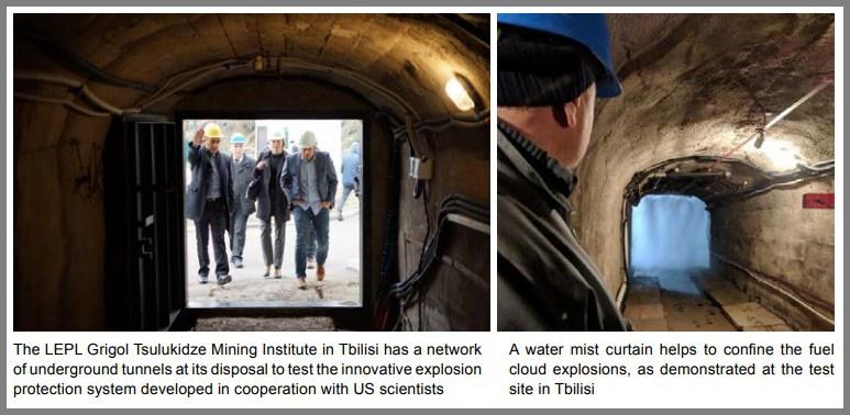 Грузинские учёные разработали специальную систему, которая может защитить от взрывов тоннели, шахты, военные бункеры.