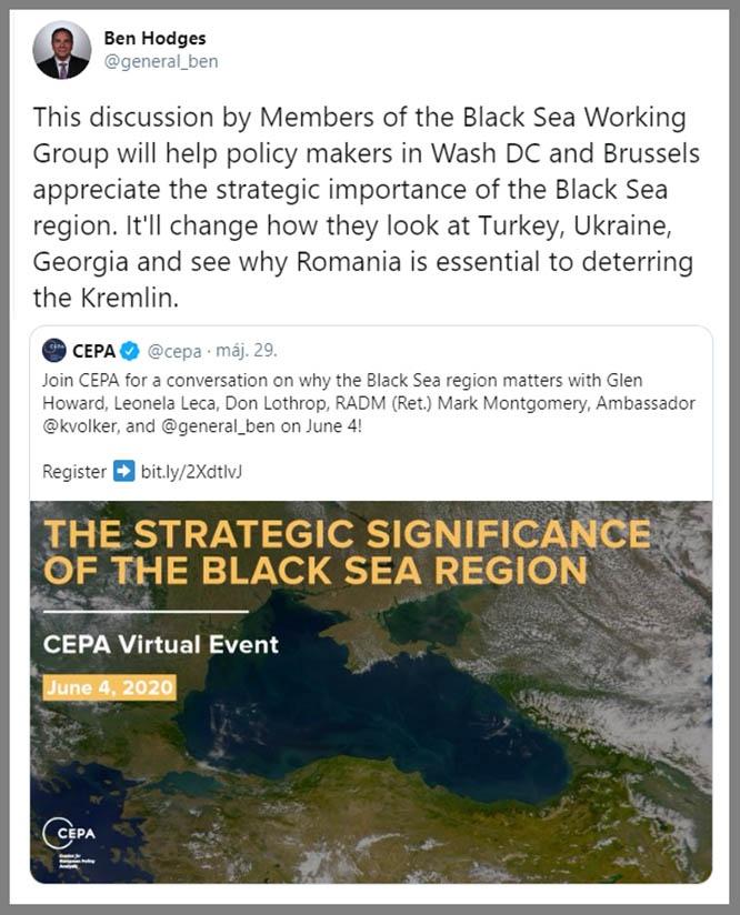 Ходжес и его соратники из Черноморской рабочей группы не могут успокоиться и планируют продолжить обсуждать проблему Чёрного моря.