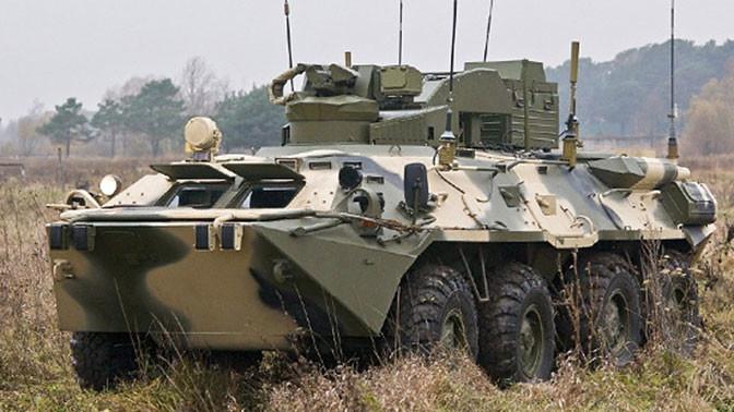 Подразделения охраны и разведки ракетных соединений продолжают укомплектовываться боевыми противодиверсионными машинами (БПДМ) «Тайфун-М».