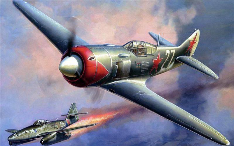 24 февраля 1945 года, находясь на «свободной охоте», Иван Кожедуб сбил немецкий реактивный истребитель «Мессершмитт-262».