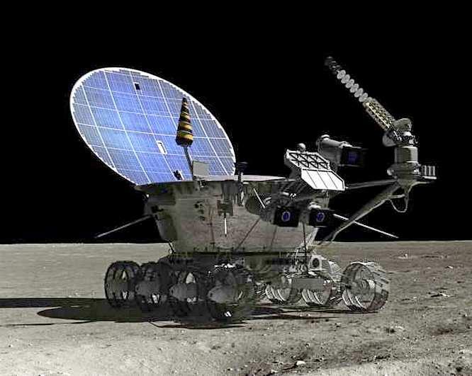 СССР с меньшими затратами и тем же эффектом прошёлся по спутнику Земли «лунным трактором» - «Луноходом».