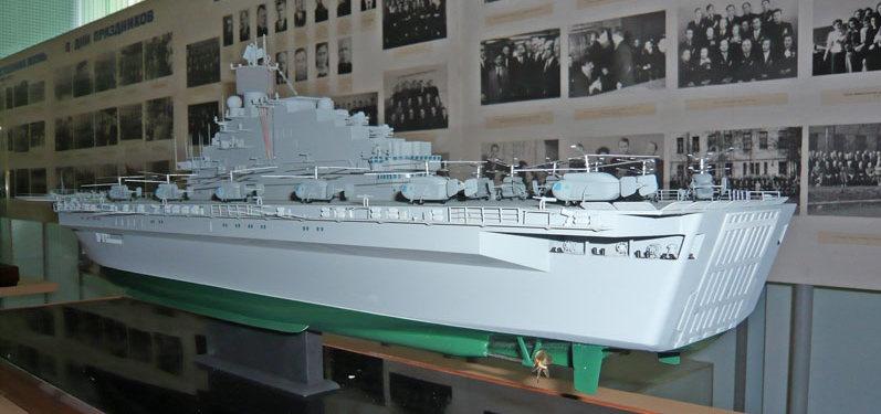 Один из вариантов проекта 11780 в музее Невского ПКБ.