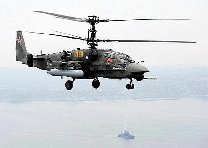На новом корабле будут базироваться винтокрылые машины Ка-52К «Катран».