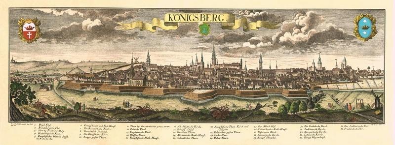 Кёнигсберг в 1758 году оказывается в составе Российской империи согласно манифеста о присоединении Восточной Пруссии к России.
