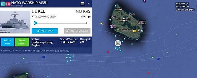 Основная часть операции прошла по маршруту 160-километрового недостроенного участка «Северного потока-2» в датских водах.