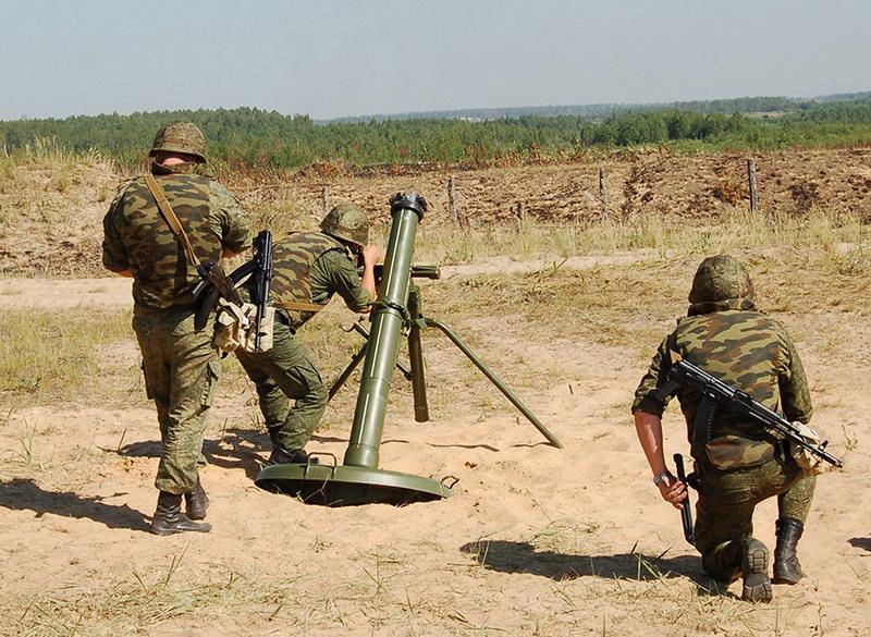 Модернизированный 120-мм миномётный комплекс 2С12А «Сани».