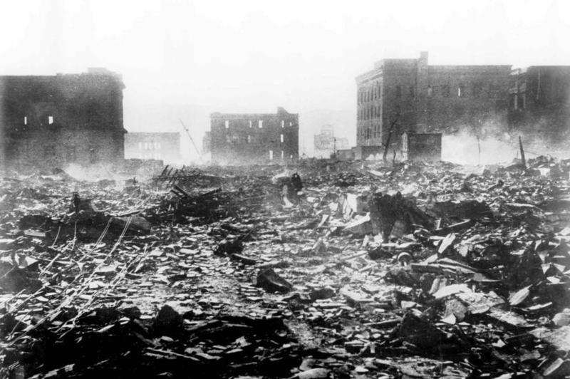 Американские бомбардировщики B-29 в ночь с 9 на 10 апреля 1945 года разбомбили в Японии всю инфраструктуру по обогащению урана.