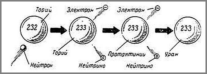 Строение оружейного урана-233.