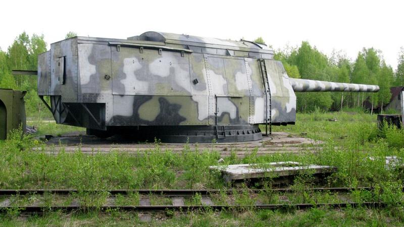 Пушка Б-37 калибра 406 мм на полигонной установке МП-10 на Ржевке. Май 2009 г.