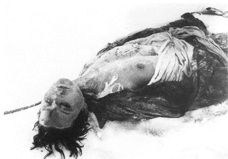 Посмертный снимок Зои Космодемьянской