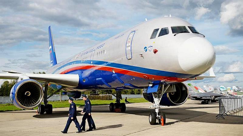 Самолёт наблюдения Ту-214ОН «Открытое небо» Министерства обороны России.