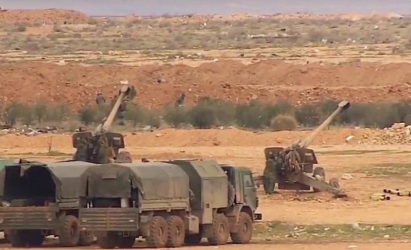 Гаубицы «Мста-Б» в Сирии использовали при стрельбе УАС «Краснополь».
