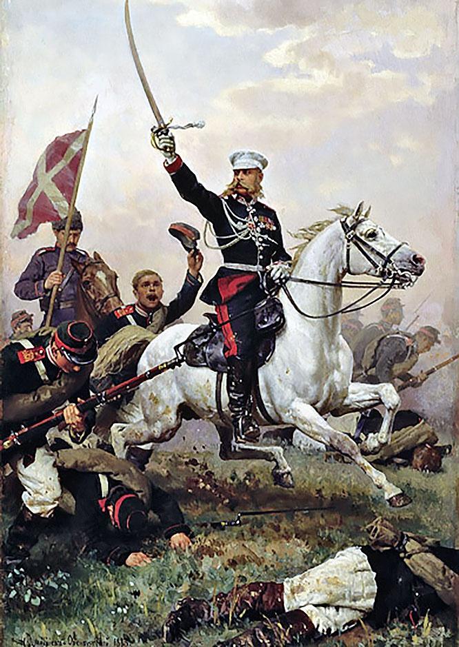 Н.Д. Дмитриев-Оренбургский. Генерал М.Д. Скобелев на коне.1883 г.