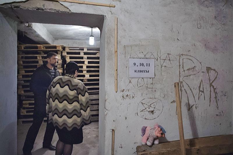 Здесь учились дети Александровки во время артобстрелов.