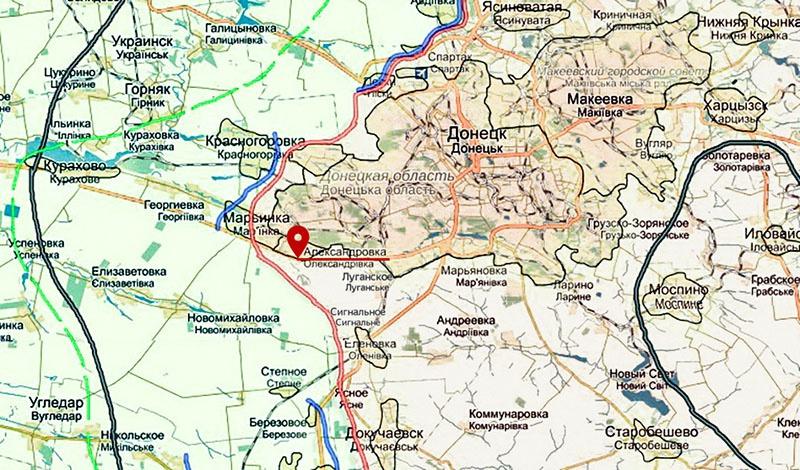 Александровка находится прямо на линии соприкосновения украинцев и частей ДНР.
