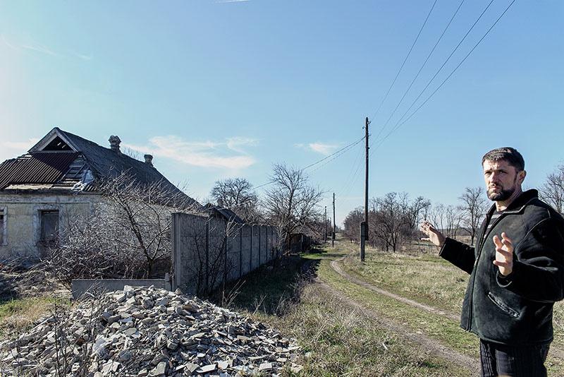 Разрушенная Александровка.