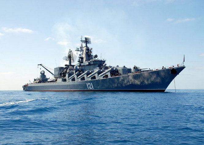 Флагман Черноморского флота ракетный крейсер «Москва» по боевому потенциалу мощнее, чем весь корабельный состав ВМСУ.