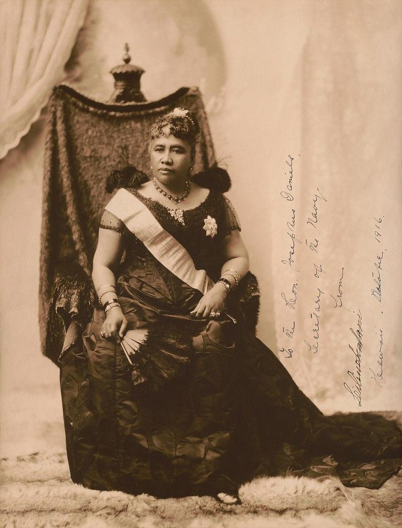 Последняя королева архипелага Лилиуокалани.