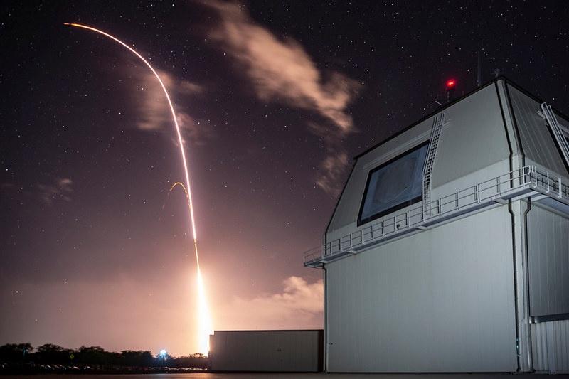 Запуск ракеты с полигона «Баркинг Сэндз».