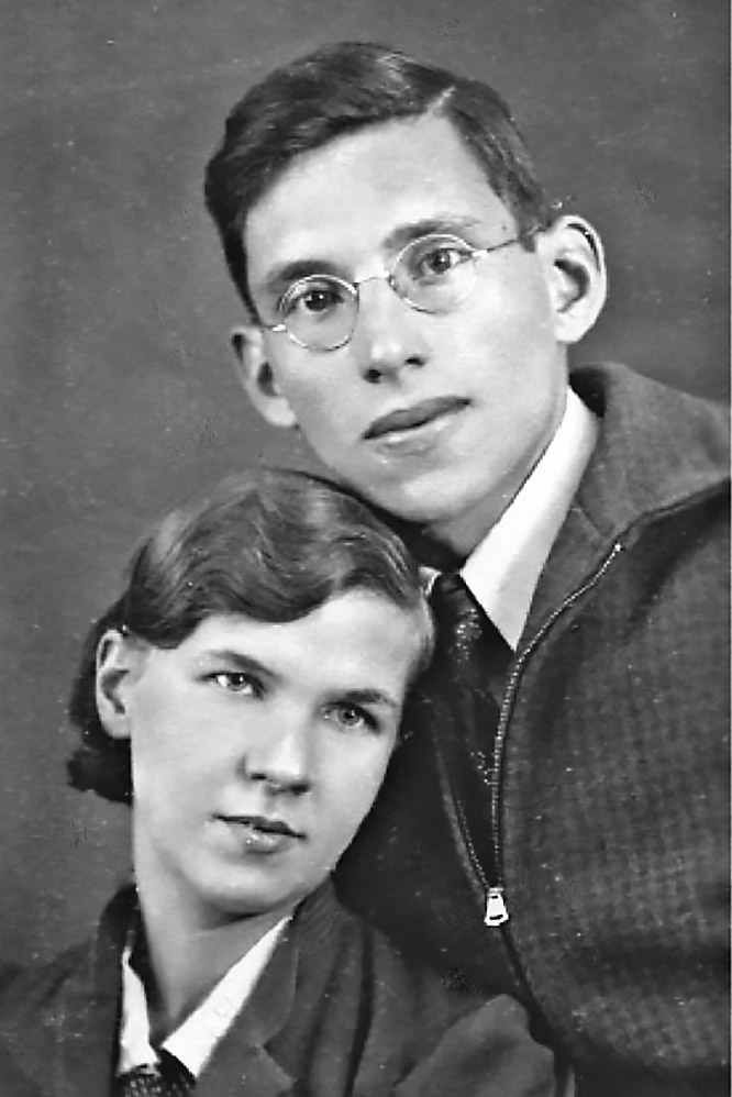 Жорж Коваль с женой.
