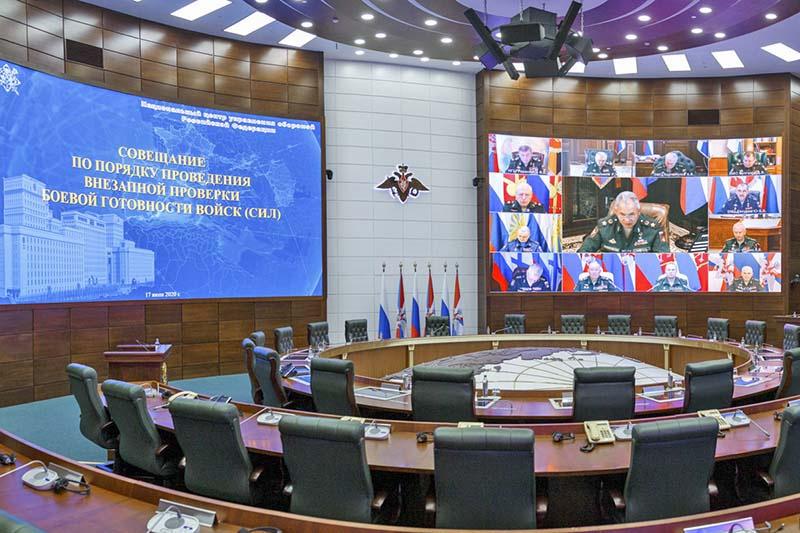 Сергей Шойгу на совещании с руководящим составом Минобороны России. Москва, 17 июля 2020 года.