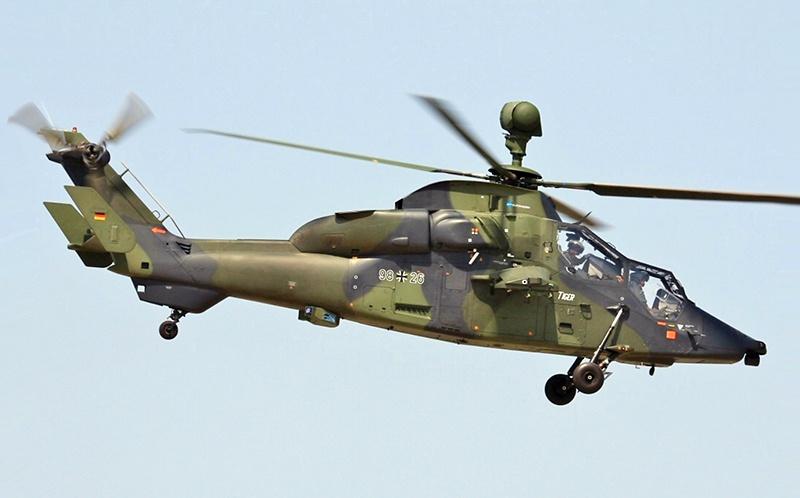 Франко-германский вертолёт EC 665 Tiger.