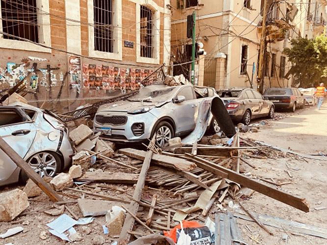 Последствия взрыва в Бейруте.