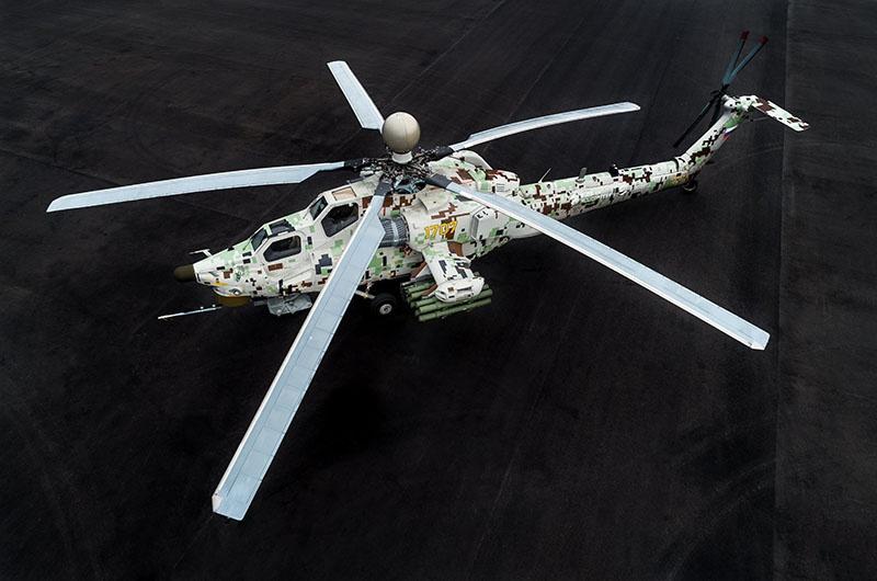 Современный ударный вертолёт Ми-28Н «Ночной охотник».