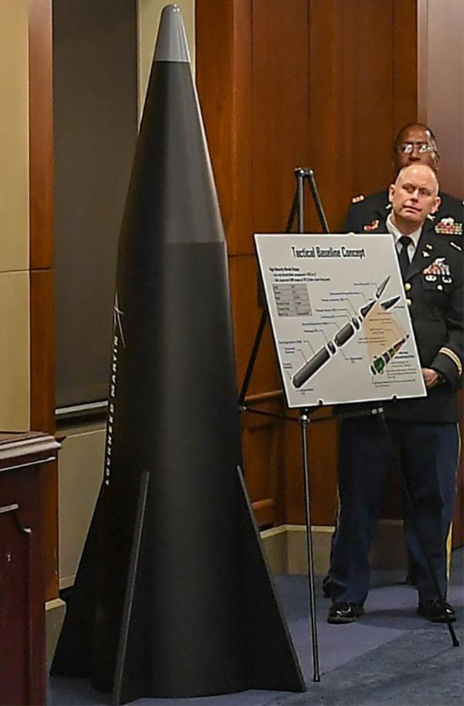 Макет концепта гиперзвуковой ракеты Lockheed Martin на первой презентации изделия.