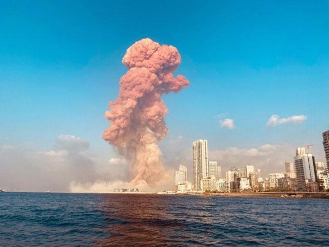 Взрыв в Бейрутском порту был такой силы, что сейсмические станции зарегистрировали его как землетрясение магнитудой 3,3.