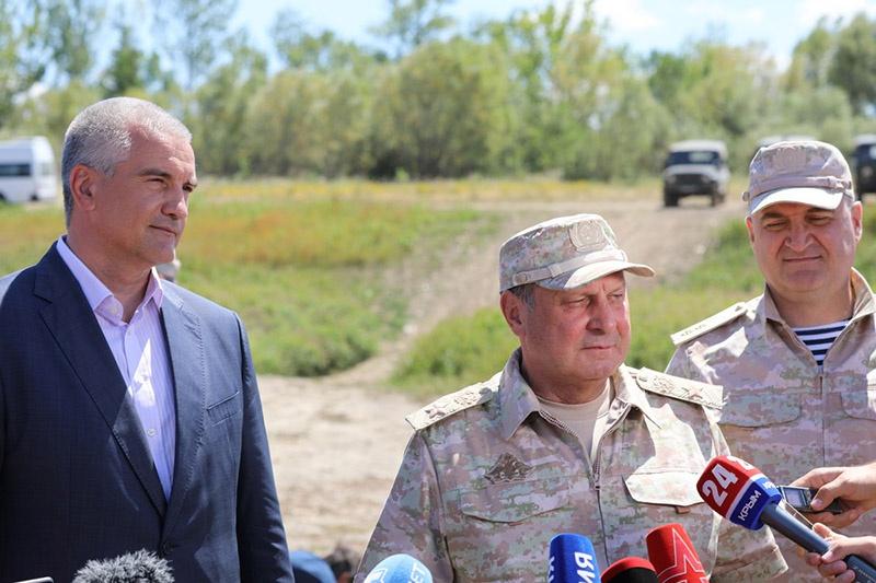 Генерал армии Дмитрий Булгаков на церемонии открытия трубопровода.