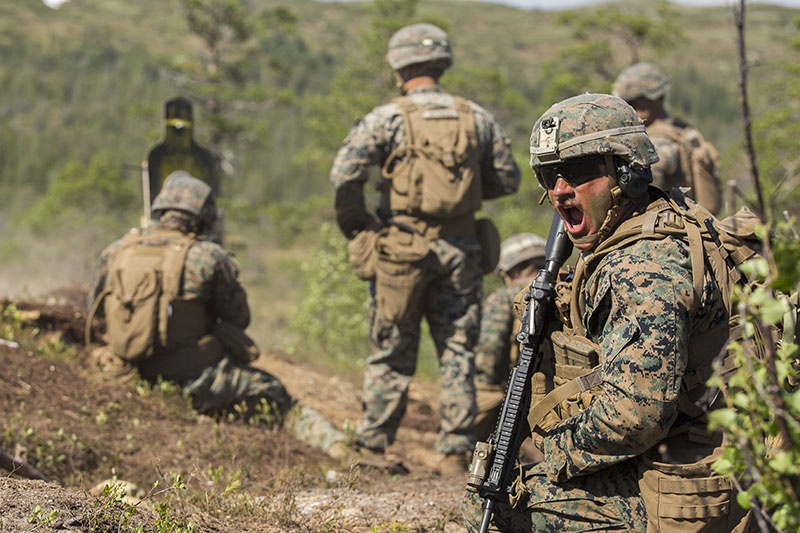 Новая тактика американской пехоты - «сетевое роение», которая позволяет отдельным подразделениям вести автономные боевые действия без применения электронных устройств в условиях мощных средств РЭБ потенциального противника.