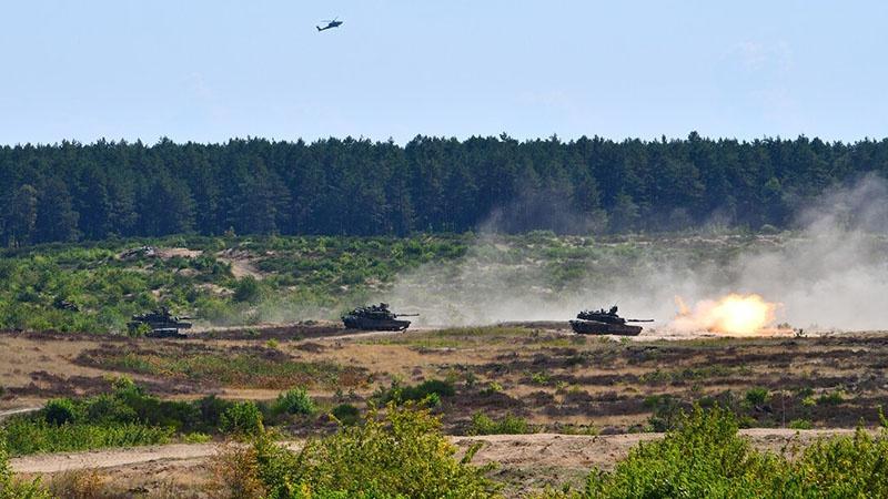 В учебных боях на польской территории были задействованы почти 2.000 единиц боевой техники.