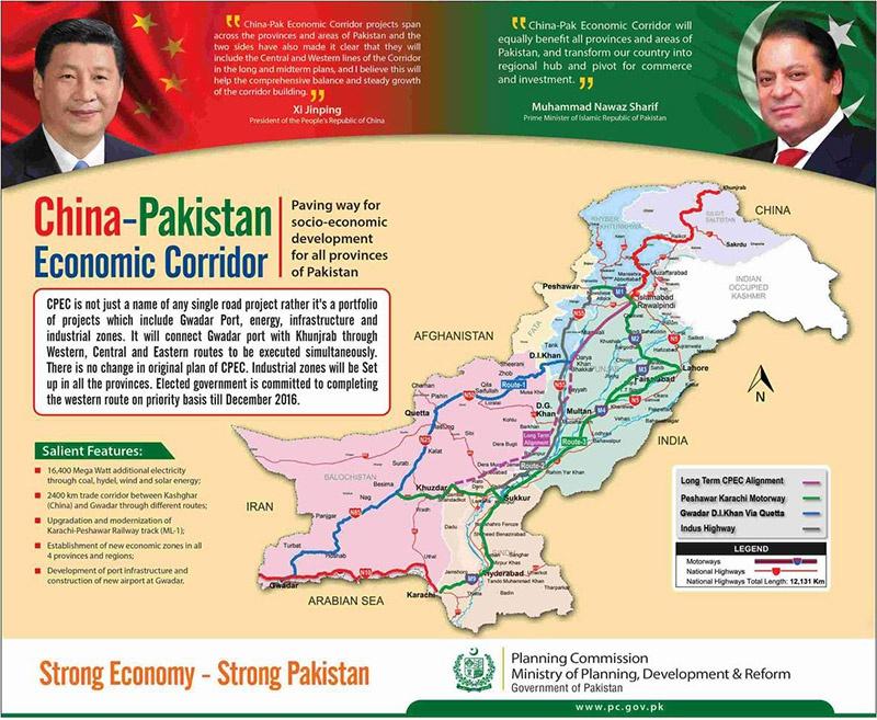 Пекин вложил в Исламабад $16 млрд и декларировал намерение инвестировать $60 млрд на создание Китайско-Пакистанского экономического коридора (CPEC).