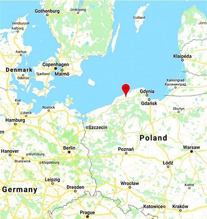 Новая военно-морская база расположена в северо-западной части Польши в Редзиково.
