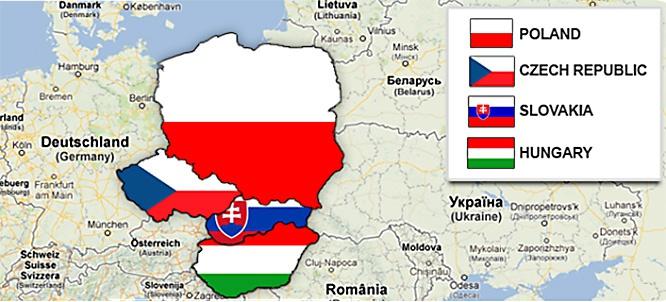 Вышеградская группа объединяет Польшу, Чехию, Словакию и Венгрию.